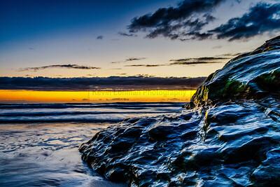 Beach Rock at Sunset