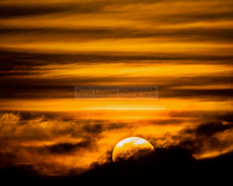 Sunset over Moonlight Beach