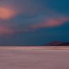 Surreal lighting during a sunset storm looking across Black Desert Playa near Gerlach, Nevada off Highway 34 on October 7, 2013.