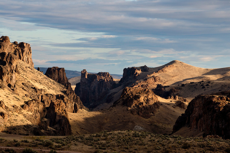 Succor Creek State Natural Area north of Jordan Valley, Oregon during the morning after a very winding night storm on September 21, 2013.