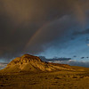 Rainbow over butte