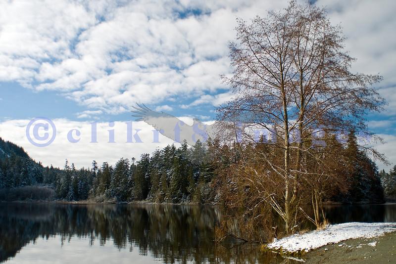 Anacortes, on Fidalgo Island, has an abundance of city parks. Heart Lake is one of them.