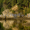 Mud Bay, aka Chuckanut Bay, forms a crescent beach which has boulders of carved sandstone.