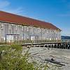 A weathered building used by Alaska Packers on Semiahmoo Spit near Blaine, Washington.