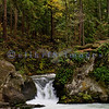 These are another set of falls along Whatcom Creek as it flows down to Bellingham Bay through Whatcom Falls Park in Bellingham, Washington. The swirling water in the foreground is where the kids jump in the summer.