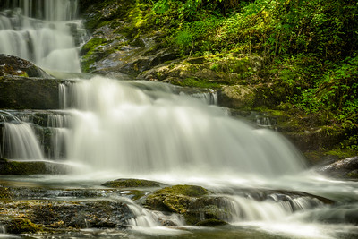 Tennessee, USA.  A scenic mountain waterfall in the spring.