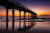 USA, St. Augustine, St. John's Pier at sunrise
