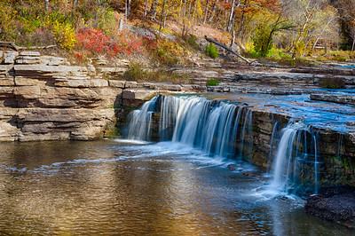 USA, Indiana,Cataract Falls State Recreation Area, Upper Cataract waterfalls