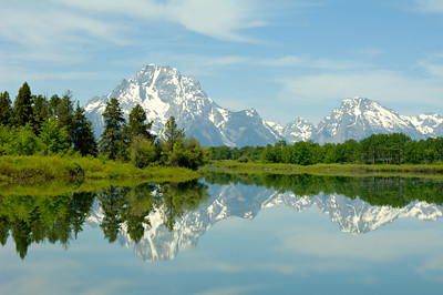USA, Wyoming, Grand Teton National Park, Oxbow Bend on the Snake River