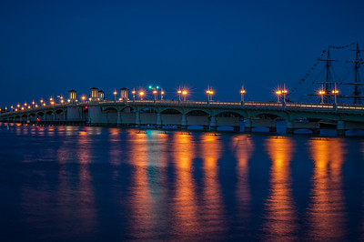 USA, Florida, St. Augustine, Bridge of Lions