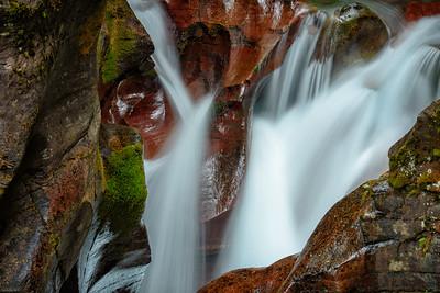 USA, Montana, Glacier National Park. Avalanche Creek Falls