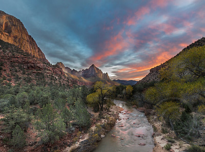 The Watchman In Sunset Glow