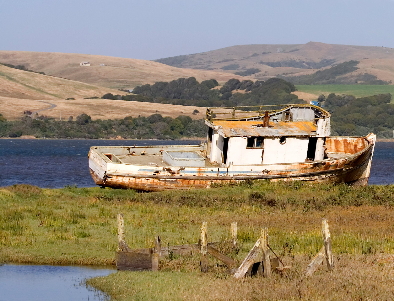 """Wreck of the """"Point Reyes,"""" Tomales Bay, California"""