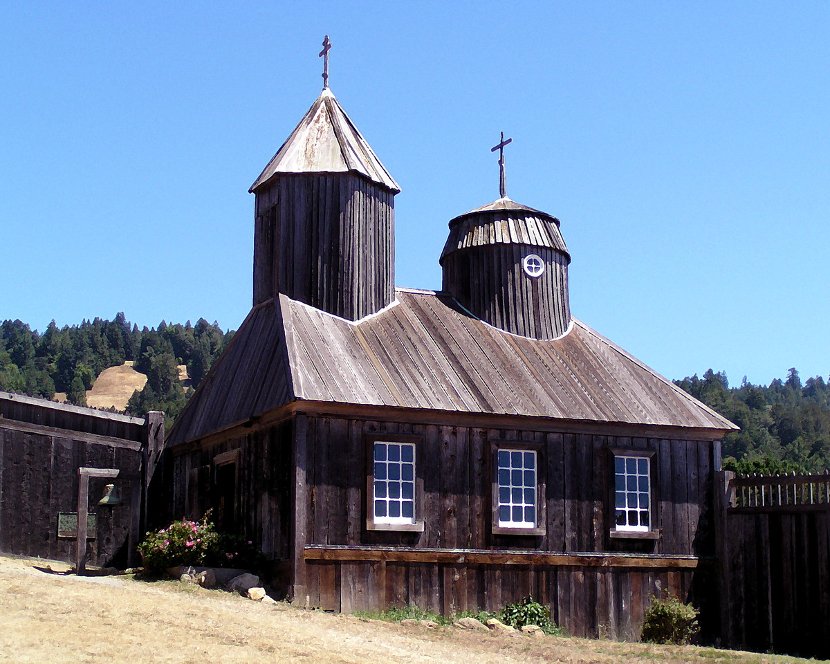 """HBC-082003-08AR """"Fort Ross Chapel""""  Fort Ross State Historic Park, California.  Art shots look best when printed in matte finish."""