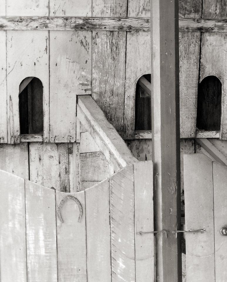 "HBC-041005-15sepia  ""Horsebox""  San Juan Bautista State Historic Park, California.  Sepia-toned image"