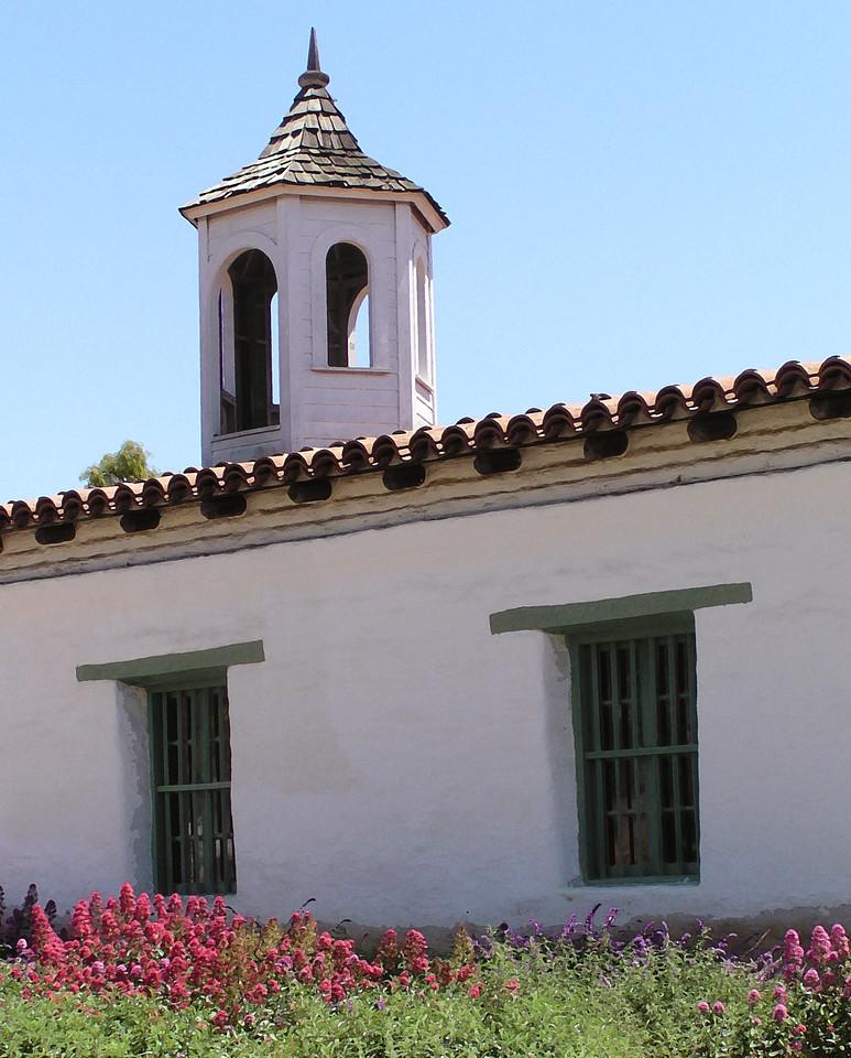 "HBC-042404-16AR ""Bell Tower"" La Casa de Estudillo, Old Town San Diego, California.  ""Art Shots"" look best when printed in matte finish."