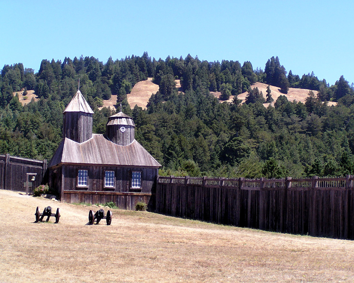 """HBC-082003-11AR  """"Fort Ross""""  Fort Ross State Historic Park, California.  """"Art Shots"""" look best when printed in matte finish."""