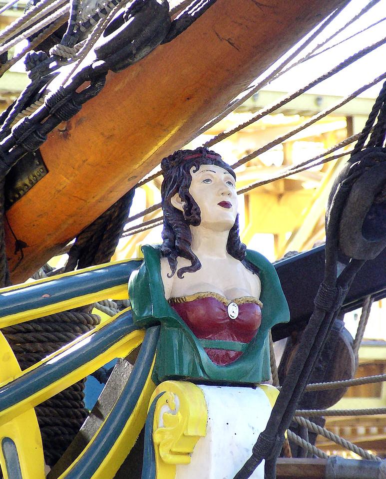 "HBC-112004-10AR  ""Figurehead (Lady Washington)"" Docks at Old Sacramento, California.  ""Art Shots"" look best when printed in matte finish."