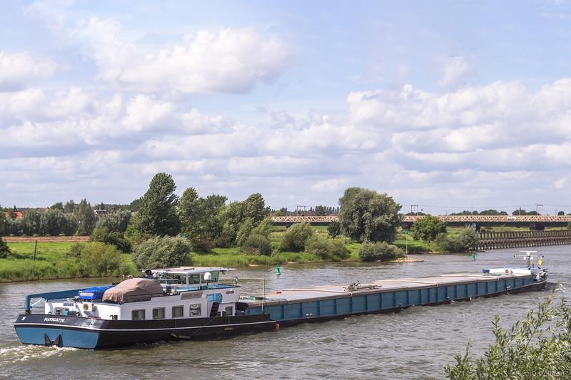"""Navigatie, vrachtschip 02315676 <a href=""""https://www.binnenvaart.eu/motorvrachtschip/14077-norma.html"""" target=""""_blank"""">info</a>"""