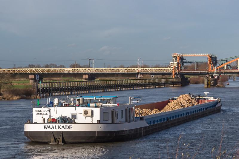 "Waalkade, vrachtschip 02325556 <a href=""https://www.binnenvaart.eu/onbekend/8364-stolzeneck.html"" target=""_blank"">info</a>"