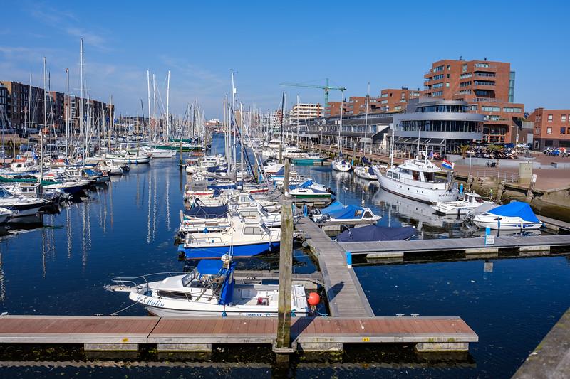 Marina, Scheveningen Harbour on a sunny day.