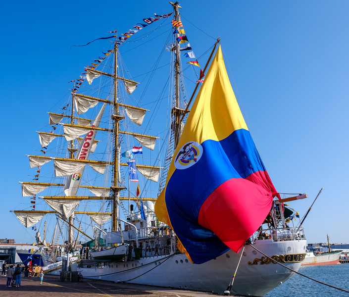 The Gloria - A Columbian naval training ship