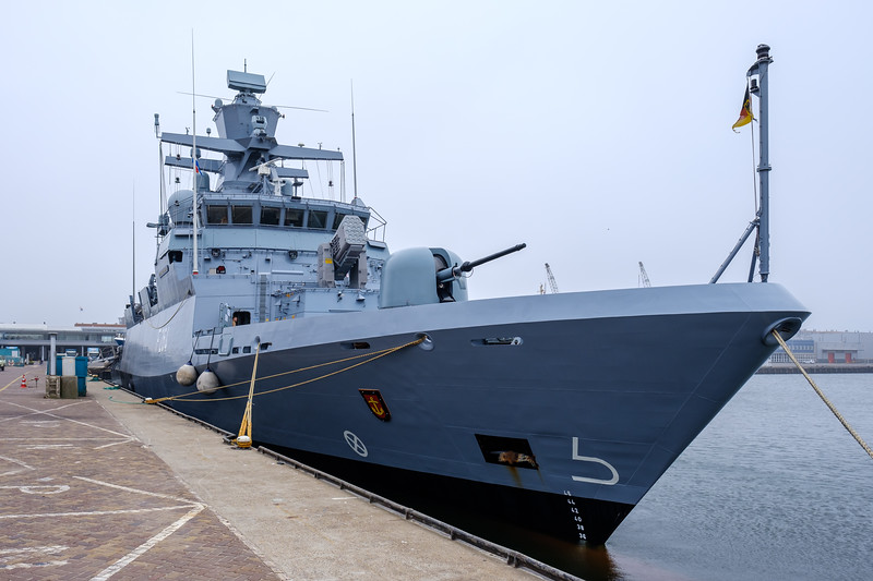 German Frigate docked in Scheveningen Harbour