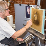 A student working on a portrait at Schissler Academy of Fine Arts in Loveland, CO.  Photos from a photo shoot for Loveland and South Magazineon December 18, 2019.