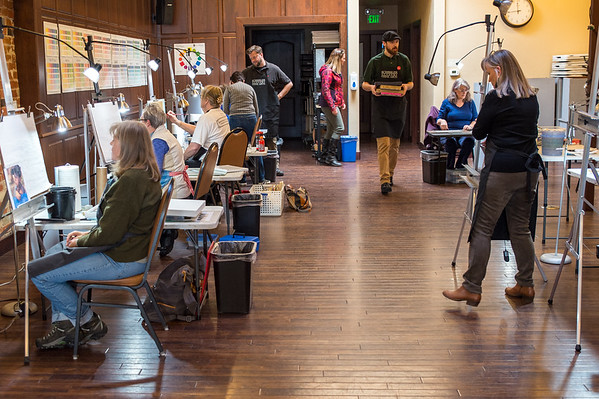 Students and Instructors at Schissler Academy of Fine Arts in Loveland, CO.  Photos from a photo shoot for Loveland and South Magazine on December 18, 2019.
