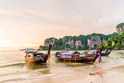 Long-Tail Boats | Railay Beach, Thailand