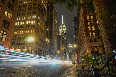 Empire Light Trails | New York City, New York