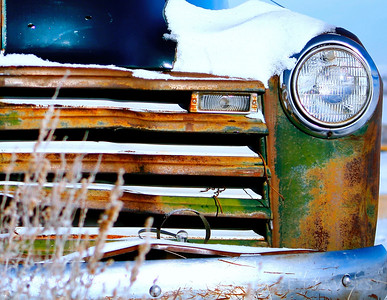 Antique Truck in the Snow | Wyoming