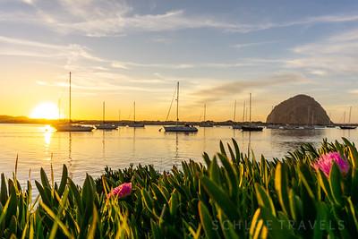 Sunset Sailboats| Morro Bay, California