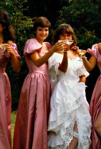 Ann as bridesmaid, 1984
