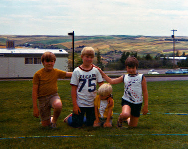 Rick and Ann with Greg and Brad Kirstetter, 1972
