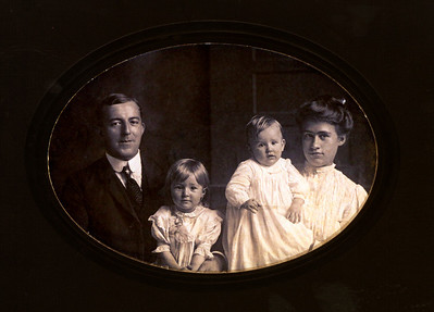 The Laucks: John and Sophia (my great-grandparents) with Dorothy and Karl (who did not survive infancy).