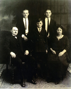The Schneiders: (back row) John and Peter (my grandfather); (front row) John, George and Anna.