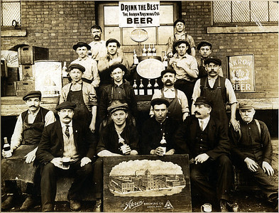 John Lauck (my great-grandfather, Louise's father) is 2nd from the left in the first row, with a mug in his hand.