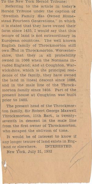 1932 MWK Daughters of Col Wars NJ