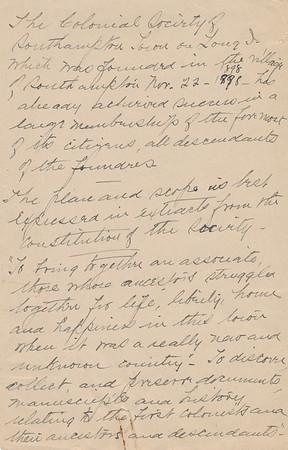 1932 MWK Notes Lutheran Church & Tunison
