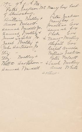 1932 MWK Quaker Meeting House Records