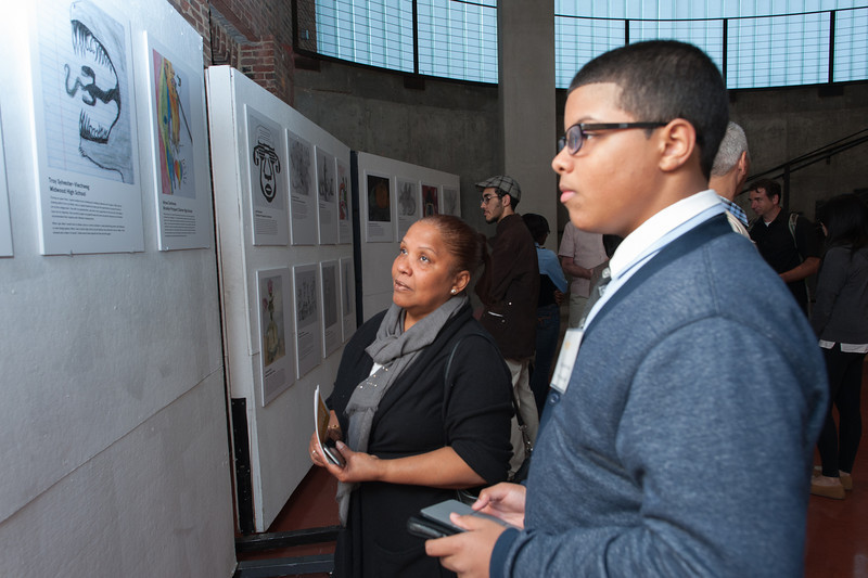 Pratt Young Scholar, Christopher, and mother.