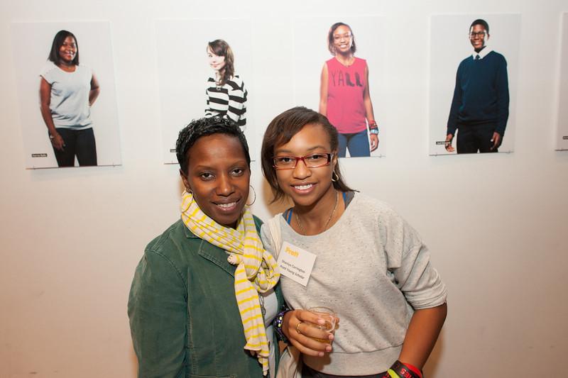 Pratt Young Scholar, Shaniya, and mother.