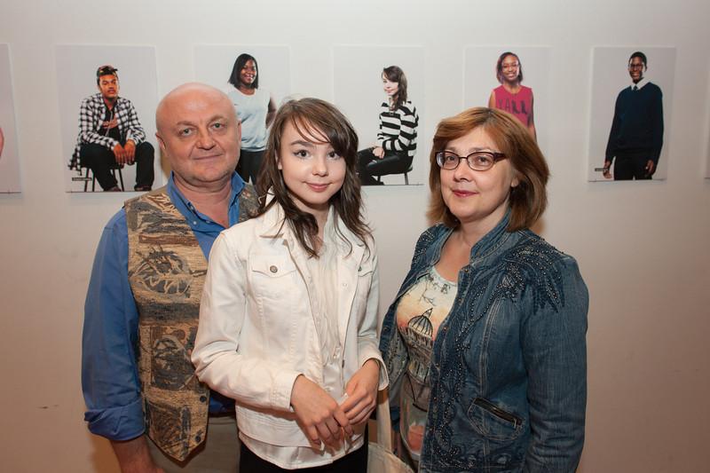 Pratt Young Scholar, Lizaveta, and parents.
