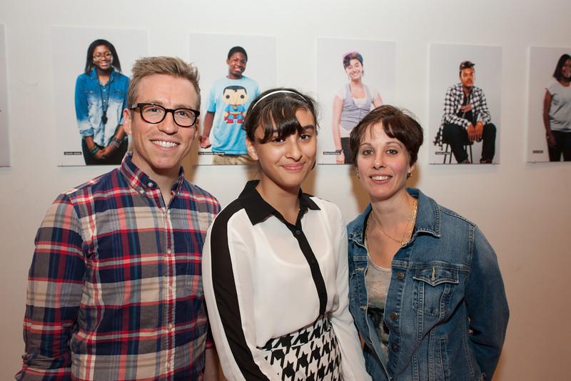 Art Teacher, Ryan; and Pratt Young Scholar, Alyssa.