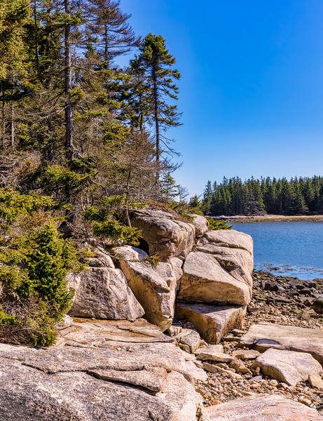 Schoodic Loop Road Toward Buck Harbor 3-31-18