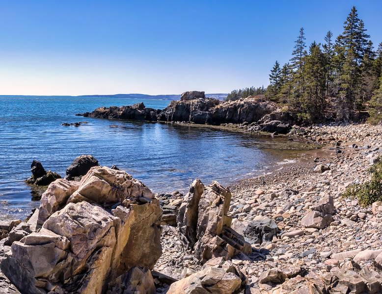 Schoodic Loop Road Looking Toward West Pond 3-31-18