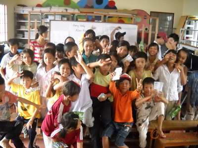 community education for the children at Vinh Quang school