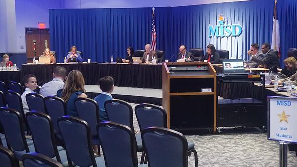 December 13, 2016 Regular MISD School Board Meeting