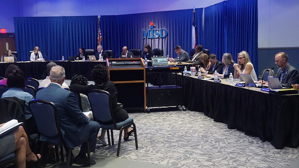 September 27, 2016 Regular MISD School Board Meeting